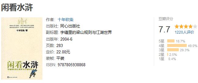 《闲看水浒》by 十年砍柴