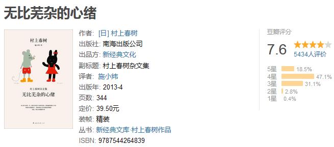 《村上春树杂文集》by 村上春树