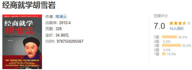 《经商就学胡雪岩》by 南浦云