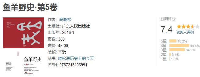 《鱼羊野史·第五卷》by 高晓松