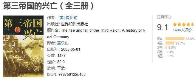 《第三帝国的兴亡》(全三册)by 威廉・夏伊勒