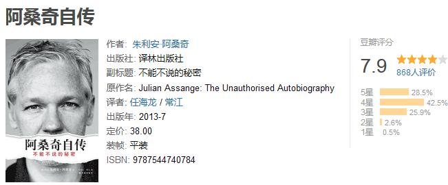 《阿桑奇自传:不能不说的秘密》by 朱利安・阿桑奇