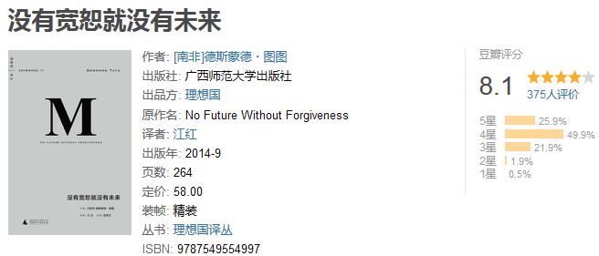 《没有宽恕就没有未来》by 德斯蒙德・图图