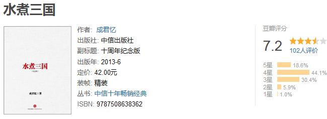 《水煮三国》(十周年纪念版)by 成君忆