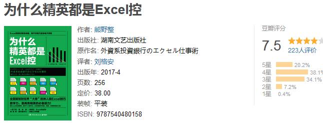 《为什么精英都是 Excel 控》by 熊野整