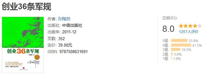 《创业 36 条军规》by 孙陶然