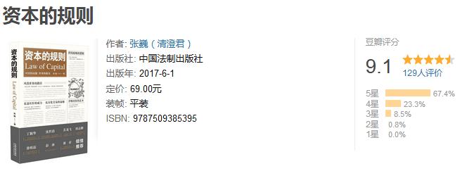 《资本的规则》by 张巍