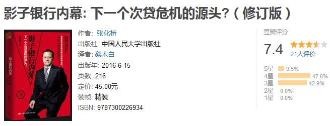《影子银行内幕:下一个次贷危机的源头》(修订版)by 张化桥