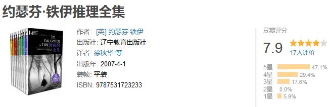 《约瑟芬・铁伊推理全集》(全 8 册)by 约瑟芬・铁伊