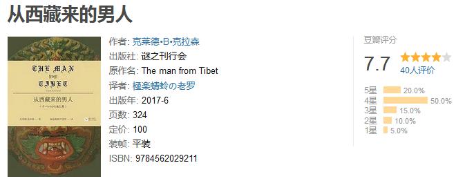 《从西藏来的男人》by 克莱德・克拉森