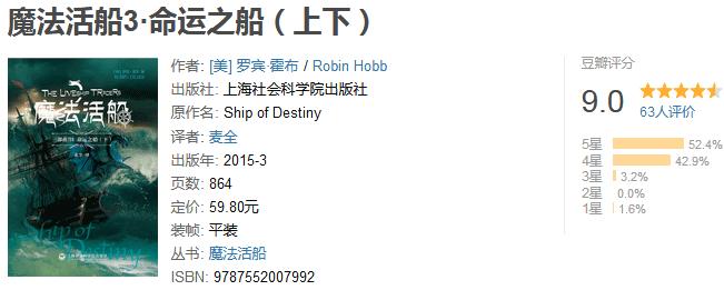 《魔法活船 3:命运之船》by 罗宾・霍布