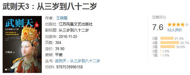 《武则天 3:从三岁到八十二岁》by 王晓磊