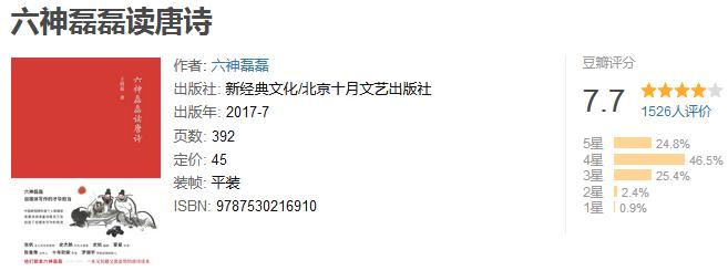 《六神磊磊读唐诗》by 王晓磊
