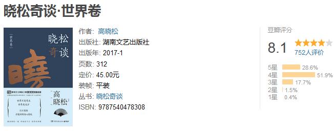 《晓松奇谈》(套装共 2 册)by 高晓松