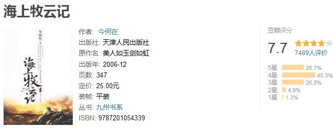 《海上牧云记》by 今何在