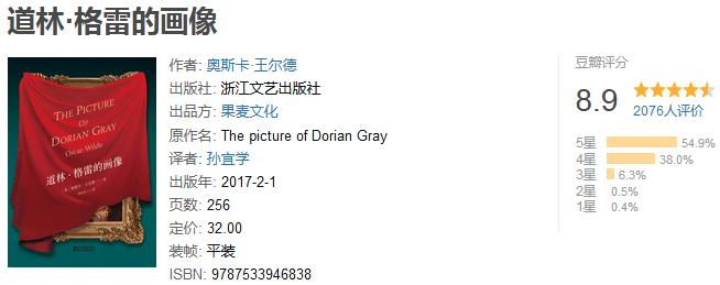 《道林·格雷的画像》by 奥斯卡・王尔德