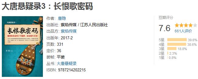 《大唐悬疑录 3:长恨歌密码》by 唐隐