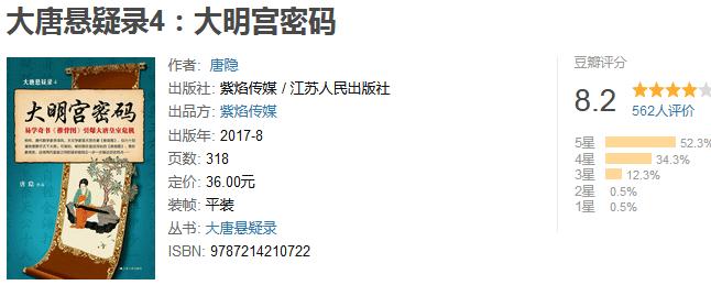 《大唐悬疑录 4:大明宫密码》by 唐隐