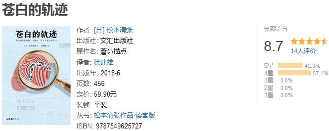《松本清张推理悬疑典藏版合集》(套装共 7 册)by 松本清张