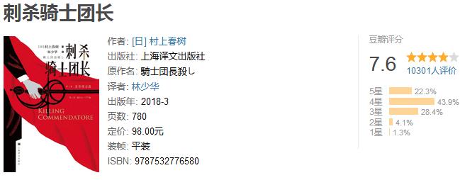 《刺杀骑士团长》by 村上春树