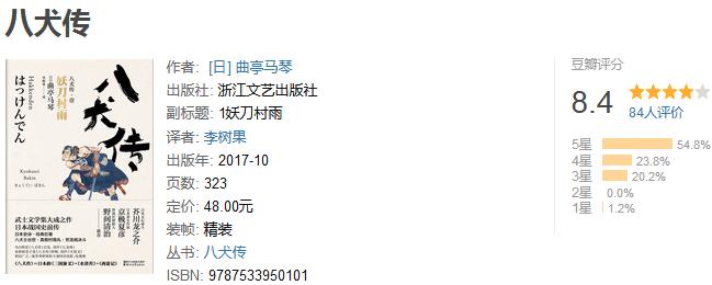 《八犬传》(套装共七册)by 曲亭马琴