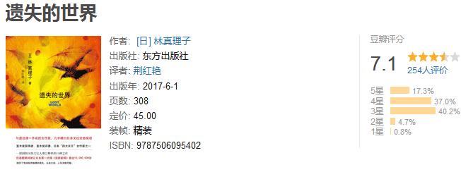 《遗失的世界》by 林真理子