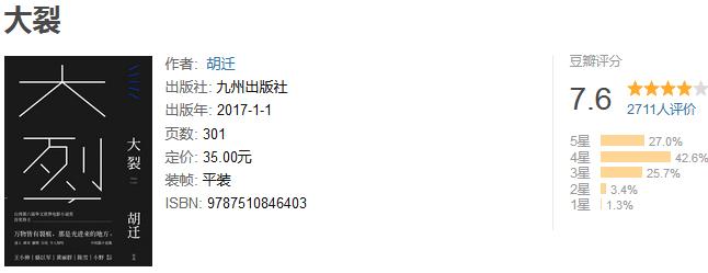 《大裂》by 胡迁