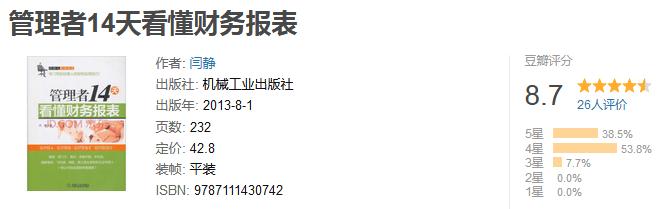 《管理者 14 天看懂财务报表》by 闫静