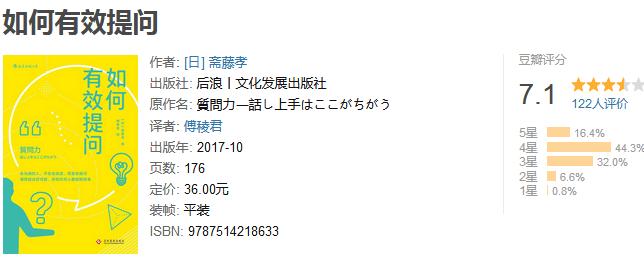 《如何有效提问》by 斋藤孝