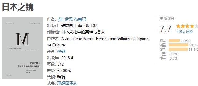 《日本之镜:日本文化中的英雄与恶人》by 伊恩・布鲁玛