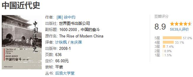 《中国现代史》by 徐中约