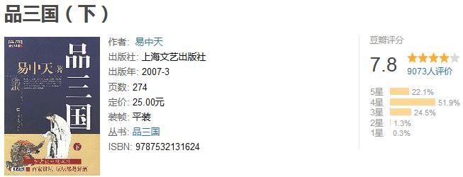 《易中天品三国》by 易中天