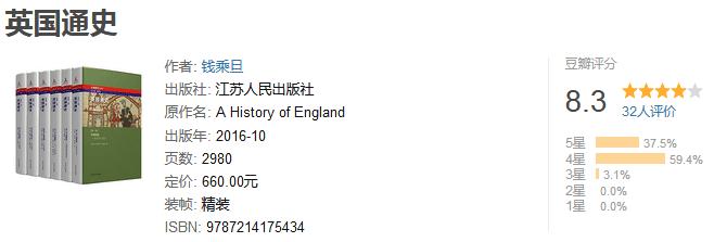 《英国通史》(套装共 6 册)by 钱乘旦