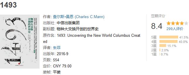 《1493:物种大交换开创的世界史》by 查尔斯・曼恩