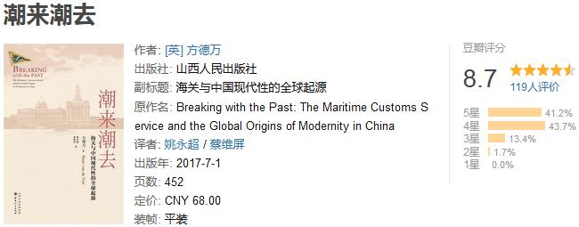 《潮来潮去:海关与中国现代性的全球起源》by 方德万