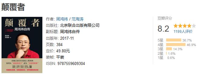 《颠覆者:周鸿祎自传》by 周鸿祎/范海涛