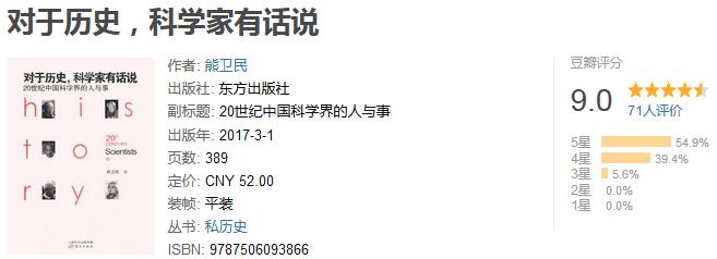 《对于历史,科学家有话说》by 熊卫民