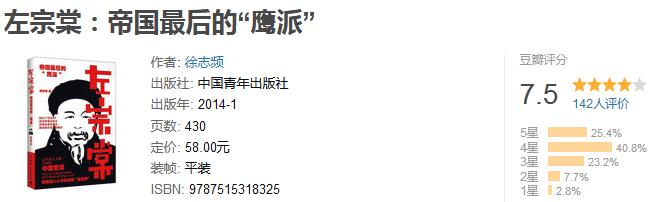 """《左宗棠:帝国最后的""""鹰派""""》by 徐志频"""