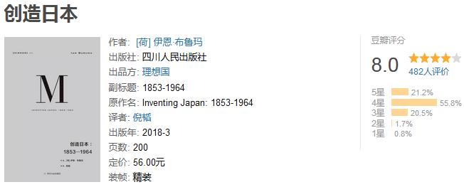 《创造日本:1853-1964》by 伊恩・布鲁玛