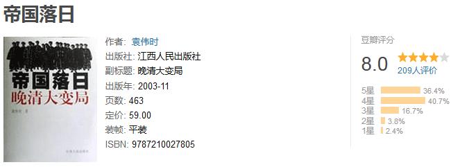 《帝国落日:晚清大变局》by 袁伟时