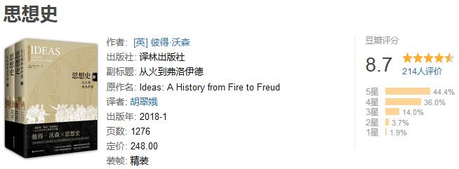 《思想史:从火到弗洛伊德》(全二册)by 彼得・沃森