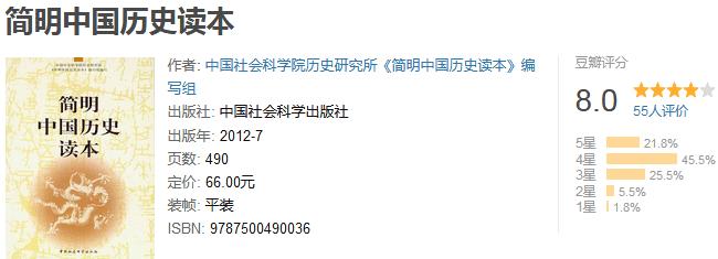 《简明历史读本系列》(套装共 6 册)by 牟钟鉴等
