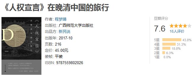 """《""""人权宣言""""在晚清中国的旅行》by 程梦婧"""