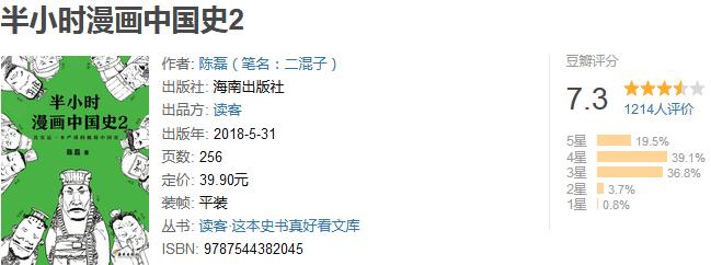 《半小时漫画中国史 2》by 二混子
