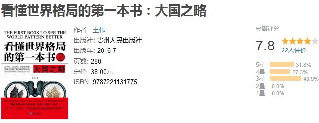 《看懂世界格局的第一本书:大国之略》by 王伟