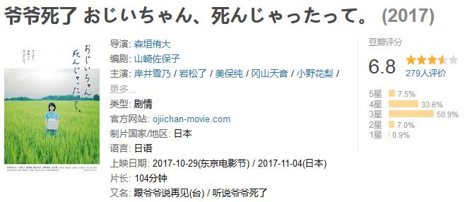 《爷爷死了》おじいちゃん、死んじゃったって (2017) 720P/1080P 百度网盘迅雷下载