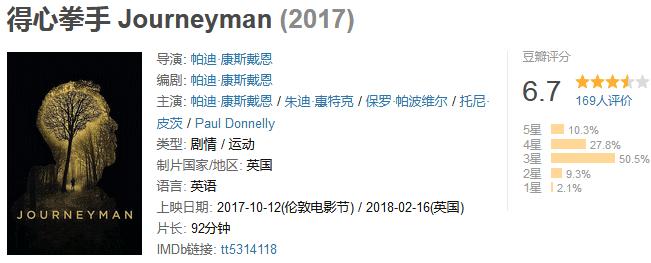 《得心拳手》Journeyman (2018) 720P/1080P 百度网盘迅雷下载